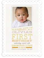 Olivia Children's Birthday Party Invitations