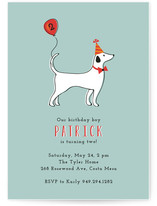 Party Pup Children's Birthday Party Invitations