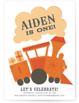 Terrific Train Children's Birthday Party Invitations