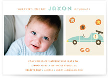 Vintage Toy Car Children's Birthday Party Invitations