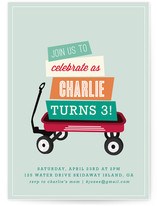 Wagon Wheels Children's Birthday Party Invitations