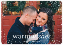 Snow Flurry Christmas Photo Cards