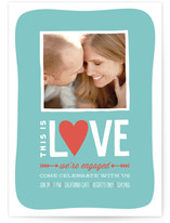 This is Love Engagement Party Invitations