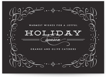 Vintage Chic Business Holiday Cards