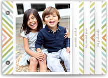 chevron rainbow Holiday Minibook™ Cards