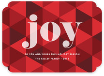 Joy Geometric Holiday Non-Photo Cards
