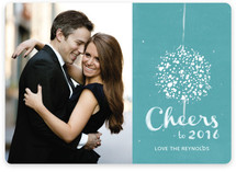 Elegant Ball Drop New Year's Photo Cards