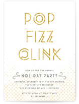 Pop Fizz Clink Holiday Party Invitations