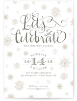Frosted Holiday Party Invitations