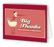Stylish Stork and Funky Baby Baby Shower Thank You Cards