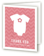 Adopting a Baby Girl Baby Shower Thank You Cards