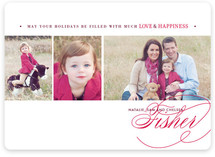 Love & Happiness Holiday Photo Cards