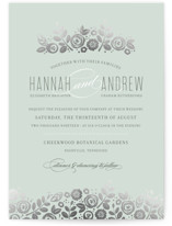 White Shadows Foil-Pressed Wedding Invitations