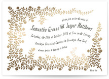 Rose Garden Foil-Pressed Wedding Invitations