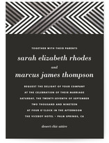 Braided Chevron Foil-Pressed Wedding Invitations