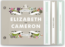 Banner and Branches Wedding Invitation Minibook™ Cards