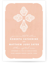 Blessed Lace Wedding Invitations