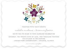Floral Initials Wedding Invitations