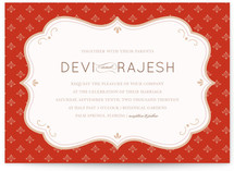 Indian Flair Wedding Invitations