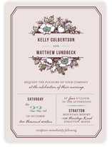 Harvest Floral Wedding Invitations