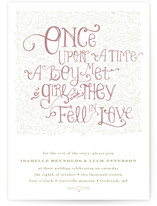 Once Upon Wedding Invitations