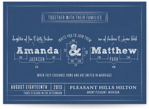 Blueprint Wedding Invitations