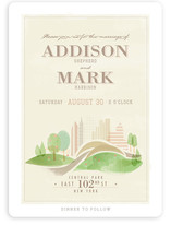 Central Park Wedding Invitations
