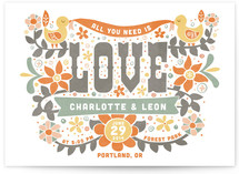 Woodstock (All You Need is Love) Wedding Invitations