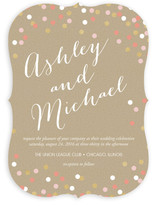 Golden Sparkling Confetti Wedding Invitations