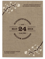 Burlap Bliss Wedding Invitations