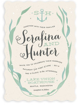 Whimsical Kelp Wedding Invitations