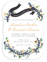 Floral Hand Painted Wedding Invitations