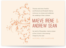 Falling Vines Wedding Invitations