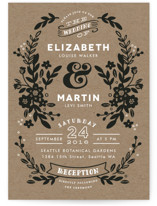 Ampersand Floral Wedding Invitations