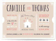 The Winning Ticket Wedding Invitations