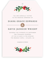 Simple Flora Wedding Invitations