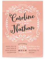 Sweet Name Frame Wedding Invitations