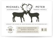 Antler Fancy Wedding Invitations