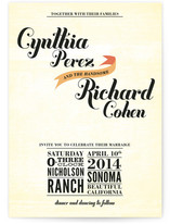 Vintage Ranch Wedding Invitations