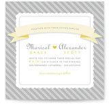 Grey Sugary Stripe Wedding Invitations