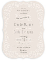 Art Deco Filigree Wedding Invitations
