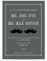 Stache + Stache Wedding Invitations