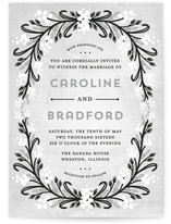 Midnight Floral Wedding Invitations