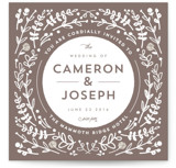 Floral Frame Square Wedding Invitations