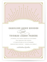 Modern Deco Wedding Invitations