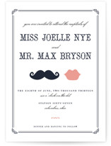 Stache + Kiss Letterpress Wedding Invitations