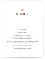 love struck Letterpress Wedding Invitations