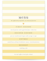 Ombre Stripes Menu