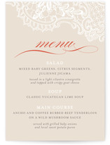 White Lace Menu
