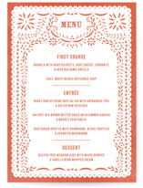 Fiesta Folk Art Menu